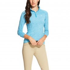 Ariat Women's Odyssey Long Sleeve Quarter Zip (Barrier Teal)