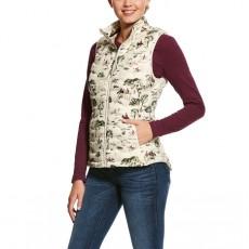 Ariat (Sample) Women's Ideal Down Vest (Hunt Scene)