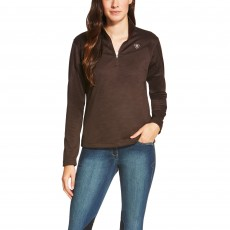 Ariat Women's Conquest Quarter Zip (Ganache)