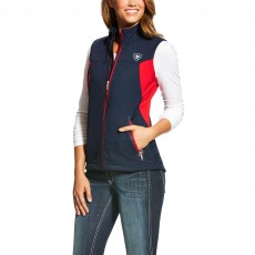 Ariat Women's Team Softshell Vest (Navy)