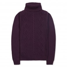 Musto Women's Astley Roll Neck Knit (Damson)