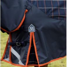Mark Todd Mediumweight Combo Turnout Rug Plaid (Navy/Orange/Beige)