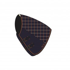 Mark Todd Mediumweight Turnout Neck Cover Plaid (Navy/Orange/Beige)