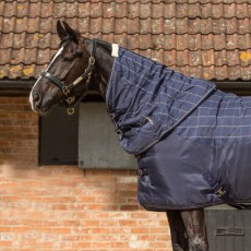 Mark Todd Ultimate Heavyweight Stable Neck Cover Plaid (Navy, Beige & Royal)