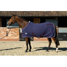 JHL Fleece Rug (Navy, Burgundy & White)