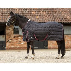 JHL Mediumweight Stable Rug (Black, Burgundy & White)