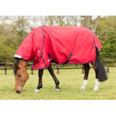 JHL Lightweight Turnout Rug (Red & Navy)