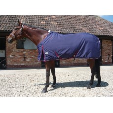 JHL Heavyweight Stable Rug (Navy & Burgundy)