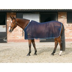 Mark Todd Mesh Cooler Rug (Navy & Silver)