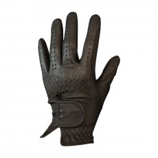 Mark Todd Kid's Leather Riding/Show Gloves (Dark Brown)