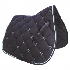 JHL Star Saddlepad (Navy & Teal)