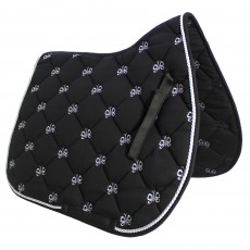 JHL Butterfly Saddlepad (Black & Silver)
