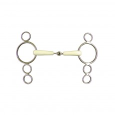 JHL Pro Steel Flexi Continental 4-Ring Jointed Snaffle
