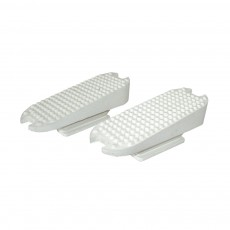 JHL Compensating Stirrup Treads Pairs (White)