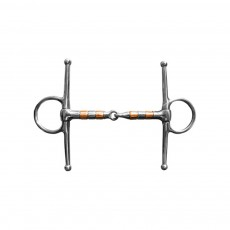 JHL Pro Steel Copper Roller Full Cheek Jointed Snaffle