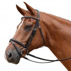 Albion KB Competition Snaffle Bridle with Flash (20mm Thickness)