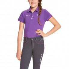 Ariat Kid's FEI Polo (Purple Heather)