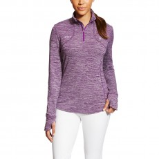 Ariat Women's FEI Gridwork 1/2 Zip (Purple Heather)