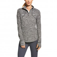 Ariat Women's FEI Gridwork 1/2 Zip (Charcoal)
