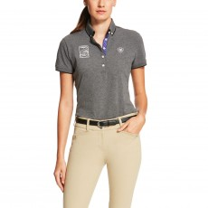 Ariat Women's FEI World Cup Polo (Heather Grey)