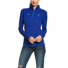 Ariat Women's FEI Cadence Wool Quarter Zip (Mazarine Blue)