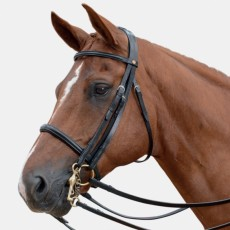 Albion KB Competition Weymouth Bridle with Crank (30mm thickness) + 1/2 Nubuck Curb Rein
