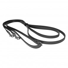 JHL Leather Draw Reins (Black)
