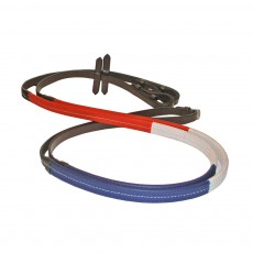 JHL Rubber Training Reins (Red, White, & Blue)