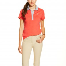 Ariat Women's Caristo Jersey Polo (Flame)