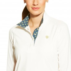 Ariat Women's Marquis Show Top (White/Navy)