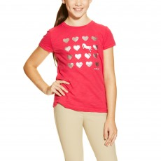 Ariat Girl's Heart Tee (Fucshia)