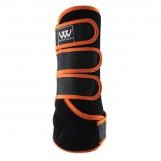 Woof Wear Dressage Wrap Colour Fusion (Black/Orange)