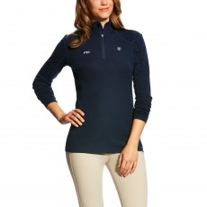 Ariat Women's FEI Cadence Wool Quarter Zip (Navy)