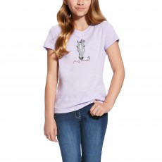 Ariat (Sample) Girl's Party Animal Tee (Lavender Mist)