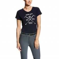 Ariat Women's Logo Tee (Navy)