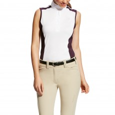 Ariat (Sample) Women's Aptos Colourblock Sleeveless (White/Plum)