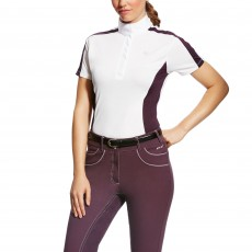 Ariat (Sample) Women's Aptos Colourblock Shirt (White/Plum Perfect)