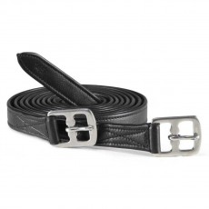 Caldene Anti-Stretch Stirrup Leathers (Black)