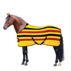 Masta Ascot Stripe Suede Fleece Rug (Gold)