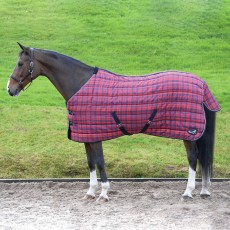 Masta Quiltmasta 350g Standard Neck Stable Rug (Red/Navy Check)