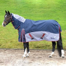 Masta Fieldmasta 200g Fixed Neck Turnout Rug (Navy/Grey)