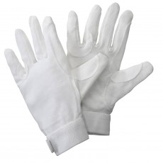 Harry Hall Cotton Pimple Grip Tex Gloves (White)
