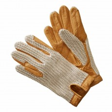 Harry Hall Crochet Back Gloves (Cream)