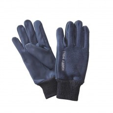 Harry Hall Fleece/Domy Suede Gloves (Navy)