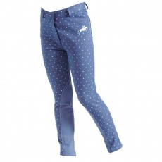 Harry Hall Junior Etton Heart Jodhpurs (Blue)
