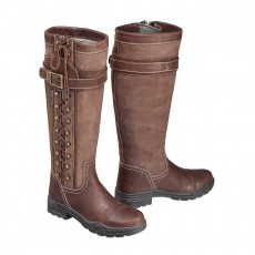 Harry Hall Adults Overstone Country Boots (Brown)