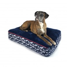 Whitaker Stanbury Dog Pillow (Navy/White Print)