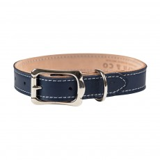 Ralph & Co Napoli Leather Dog Collar (Midnight Blue)