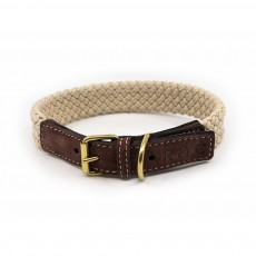 Ralph & Co Flat Rope Dog Collar (Brown)