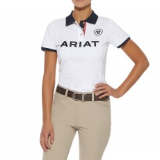 Ariat Women's Team Logo Polo (White)